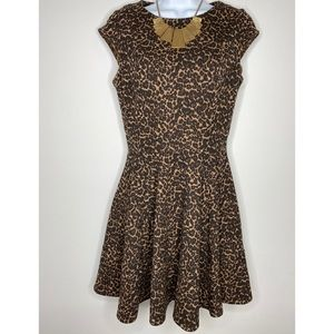 asos leopard dress